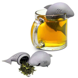 Shark Tea Infuser Silicone Strainers Tools Tea Strainer Infuser Filter Empty Bag Leaf Diffuser Wedding Decoration Gifts