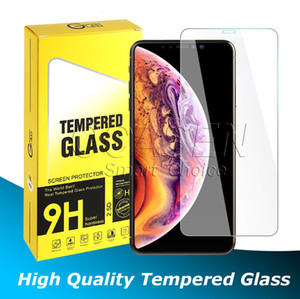 Para iPhone 11 Pro Max X XR XS MAX 6 7 8 Plus Screen Protector de vidrio templado de calidad superior 0.33mm 2.5D