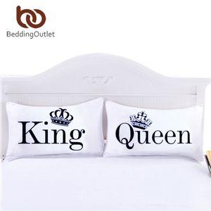 BeddingOutlet Reine Roi Taie Corps décoratif Taie ordinaire design qualifié Linge de lit Literie de Valentin SH190925