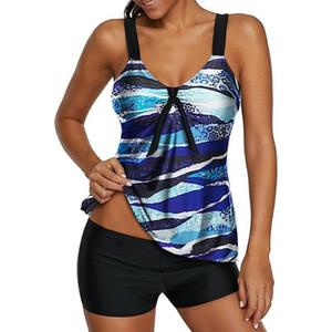 Модная женская одежда полиэстер повседневные купальники танкини Plaind Hem Холтер Swimdress трусики пляжная одежда плюс размер