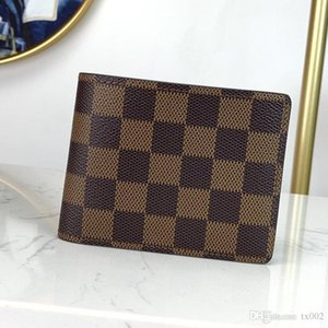 Explosion male designer bag men's classic old-fashioned canvas card holder portable compact wallet fold high-quality size 12-9cm