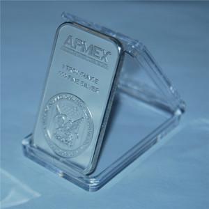 10PCS / lot liberan la moneda de plata 1 oz APMEX barra de plata fina 999 plateado barras de lingotes Sin Magnetismo acrílico Embalaje caja sellada