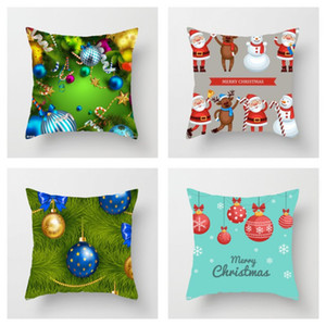 Padrão venda quente impressão de Natal fronhas Ball 3D Linho Sofá Fronhas capa capas de almofada presente de casamento 3 88sx H1
