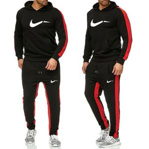 sweatsuit Designer Survêtement à capuche Sweat Noir Blanc Automne Hiver Jogger Mens Costume Sporting Sweat Survêtements Set Plus Size M-2XL