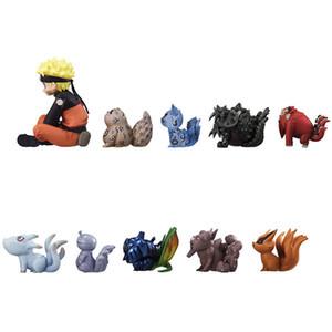 11pcs / Lot Naruto kasırga ve tailbeast Dokuz Kuyruklu Tilki el yapımı bebek masa üstü dekorasyon çocuk oyuncakları 10 çeşit