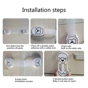 Baby Kids Safety Protector Locks Angle Table Corner Edge Protection Cover Children Locking Doors Safety Lock Cabinet Locks