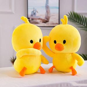 Nova venda quente pequeno pato amarelo brinquedos de pelúcia travesseiro de Animais De Pelúcia Bonecos de Animais presente da criança por atacado