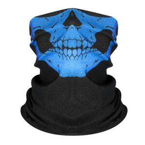 E Skull Scarf Ice Silk Mask Black Lives Matter Magic Scarves Sunscreen Headband Summer Outdoor Riding Face Protective Gga3438-6 #302#564