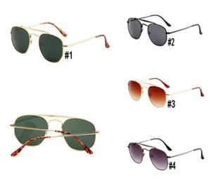 النظارات الشمسية العلامة التجارية الرجال النساء نظارات الشمس الإطار الكامل معدنية سائق نظارات شمسية نظارات حماية uv400 حملق