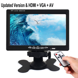 Freeshipping Mini 7 inch TV HD 1024 * 600 TFT LCD Digital and Analog Small TV Screen With HD-MI   VGA AV In & Out portable Screen