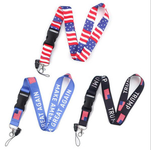Trump Phone Lanyard Phone Neck Strap Make America Great Again ID Badge Holder Necklace Strings Novelty Items OOA8091