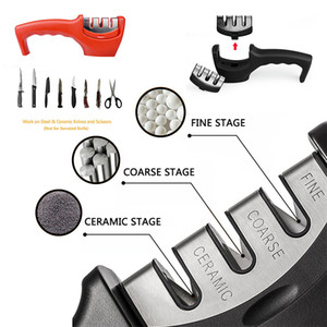 Strumenti per affilare i coltelli professionale in acciaio inox lama di ceramica di affilatura Pietra d'acciaio del tungsteno Diamond Sharpener Kitchen