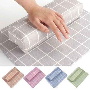 Art attrezzo del manicure Nail Salon 5 colori professionale cuscino griglia Holder cuscino in pelle Design morbido mano dell'unità di elaborazione resto del braccio Set Nail