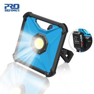 Portable travail Lumière LED sans fil 20V travail multifonction rechargeable Lampe rechargeable 2000mAh Spotlight par PROSTORMER