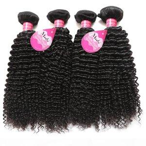 Brésilien Péruvien malaisienne Cheveux naturels Curly humains Jerry Curl cheveux Tissages 4 Bundles Extensions cheveux Vrigin non transformés pour les femmes noires
