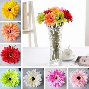 Yüksek kaliteli yeni Simülasyon çiçek yapay çiçek ipek çiçek taklit Gerbera Dekoratif Çiçek 200pcs / lot T2I254