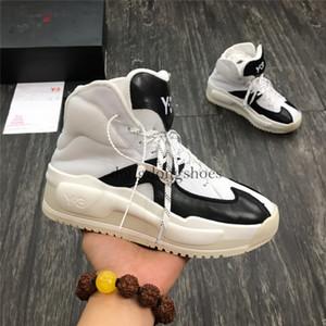 2020 Nueva 20ss Y3 Zapatos de piel genuina diseñador de moda de lujo qasa Y3 Kasabaru alta Blanco Negro Y Botas 3 Tamaño 35-45