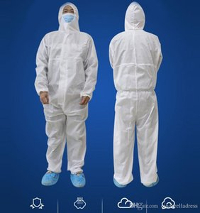 SMMS Non-wove White Coverall Protective Hazmat Suit Gowns Extinction Gows Clothing Factory Safety Clothing Fy4005