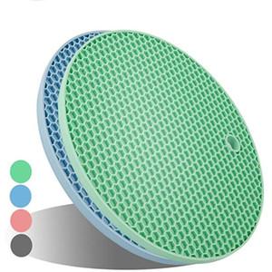 Panal de silicona Coaster espesado antideslizante anti-Hot Pot Mat doble cara de nido de abeja aislamiento de calor de la cacerola del pote Mat