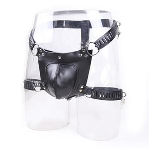 PU Leather Maschio Bondage Devices Toys Belt Restraints BDSM Uomo per sesso Chastity Chastity T200519