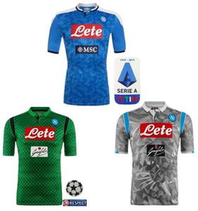 2019 2020 دوري الدرجة الاولى الايطالي نابولي نابولي الرئيسية لكرة القدم بالقميص الأزرق نابولي لكرة القدم الفانيلة قميص للرجال 19 20 هامسيك لاعب L.INSIGNE قميص