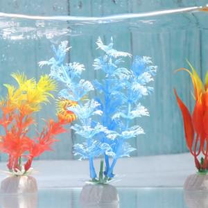 Plastic Plant Simulation Flower Artificial Aquatic Weeds Fish Tank Grass Gift Ornament Landscape Making Accessory Aquarium Decor