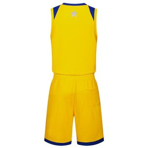 2019 New Blank Basketball jerseys printed logo Mens size S-XXL cheap price fast shipping good quality Yellow Y004AA1n