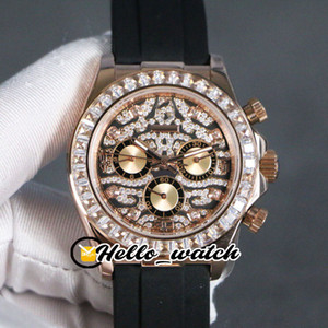 Novo Padrão 116588 TBR Diamond Dial Automatic Mens Watch 116595 Case Gold Bezel Diamond Rose Sem Chronograph Gents Relógios Hello_Watch 3color