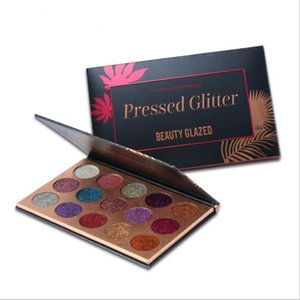 Beauty Glazed Ultra Pressed Glitter Palette 15 Color Eyeshadow Pigment Sequined Pearlescent Highlighter Makeup Eyeshadow Palette