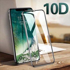 Vidrio templado para el IPhone 11ProMAX / 11Pro / 11 Teléfono de acero Film 10D IPhone XSMax XR XS / X 6/7/8 Plus pantalla completa de protección de acero de Cine