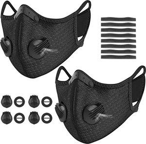 2020 New Radfahren Gesicht Sport Trainings Maske PM2.5 Anti-Verschmutzung Lauf Maske Aktivkohlefilter Designer Masken Waschbar Maske für Männer