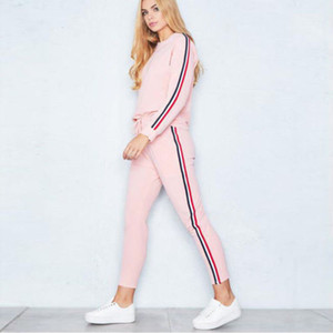 Women Tracksuit Casual Costumes For Women Spring Female Sporting Suits Sweatshirt Pant Suit Two Piece Set Sportswear Quality Free Shipping