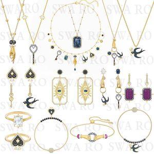 SWA Yeni Tarot Sihirli Kolye Set Gizemli Sembol Şanslı Yutmak, Şeytan Gözü, Anahtar, Maça Kadın Takı Moda Set Hediye
