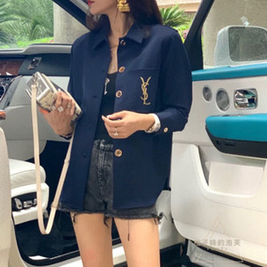 Quick hand net red embroidery letters chiffon short coat for women long sleeve sunblock clothing fashion cardigan top for women
