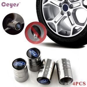 auto de la rueda del neumático del coche casquillos de válvula Cubierta para Ford Focus 2 3 Fiesta Kuga Mondeo Ranger emblemas Car Styling 4PCS / LOT