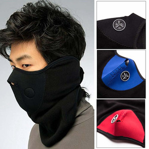 Bike Half Face Mask Cover Face Hood Protection Ski Cycling Sports Outdoor Winter Neck Guard Scarf Warm Mask R1182