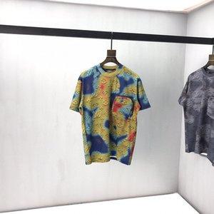 2020ss весна и лето новый высококачественный хлопок печать с коротким рукавом круглый вырез панели футболка размер m-l-xl-xxl-xxxl цвет черный белый 10s