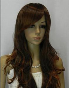 WIG free shipping Long Curly Ginger Blonde Highlight Women lady's fashion party wig wigs