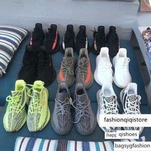 kids Kanye West Static Butter SESAME 350 Running Shoes V2 Blue Tint Semi Frozen Zebra Cream Triple White Beluga Sport Trainers Sneakers1542#