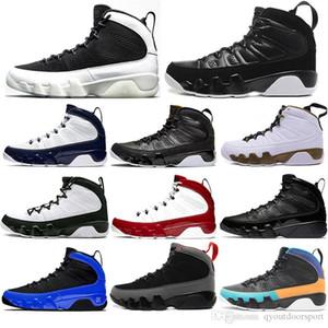 Nike AIR Jordan 9 Erkek Basketbol Air AyakkabıÜrdünRetro 9s Jumpman Rüya Gym Kırmızı Kömür Gri 9 UNC sayım Paketi Eğitmenler Tasarımcı Sneakers Soğuk