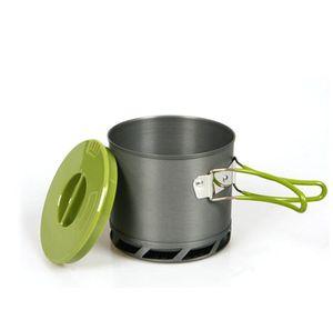 Outdoor Heat Exchanger collecte Pot Cup Camping pique-nique Batterie de cuisine Bouilloire 1.2L DS202
