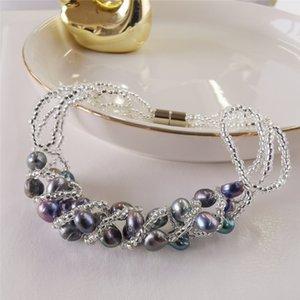 DAIMI 5-6mm Natural Freshwater Pearl Bracelet Handmade Pearl Bracelets For Women