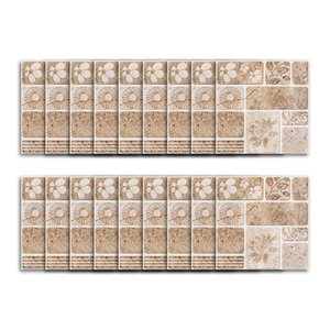 Wall Sticker 18pcs Nordic Quadrado azulejos coloridos Mosaic impermeável vara Wall Art Casa de Banho Cafés Sala Tile etiqueta