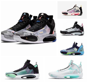 2020 New Arrival Air jordan 33 XXXIV Low Regency Purple Sneakers Hot 34 Low PE XXXIV Guo Ailun White Pink Basketball Shoes