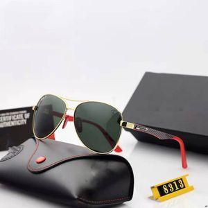 Классические круглые солнцезащитные очки Бренд дизайн UV400 Очки металлические золотые рамки солнцезащитные очки мужчины женские зеркало пилотные солнцезащитные очки Polaroid стеклянный объектив 8313 3648 3647