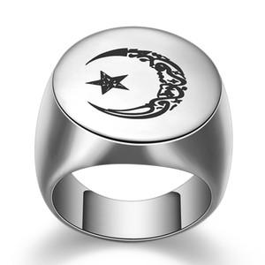 I nuovi ragazzi di titanio Oro Argento Vintage Luna Sole Stella Mens Finger nuovo anello amanti Regali per il mio ragazzo husbond all'ingrosso