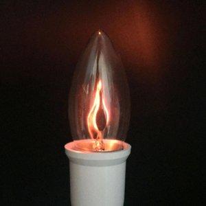 İç Aydınlatma Flicker Etkisi Alev Yangın Aydınlatma Vintage Tungsten Roman Mum Kırmızı Turuncu İpucu Lambası JK0618