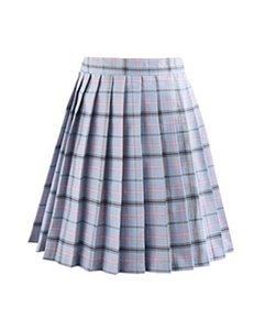 2020 Summer Skirt Homecoming Dress Plaid Skirt High Waist Pleated Skirt New High School Girl Female Cute Mini JK02