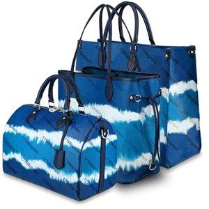 Градиент цвета Мода сумки Кошельки кожаные сумки плеча цветка Буквенные женщин Tote сумки сумки кошелек Новый Styel