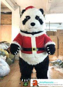 Надувное Рождество Panda костюм талисман для партии события Mascota Реклама Талисманы Надувной Panda взрослого костюма для рождественских праздников